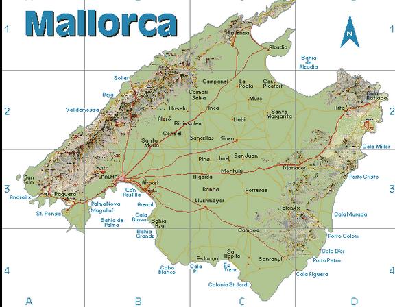 Mallorca Karte